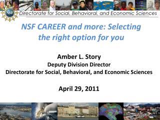 Directorate for Social, Behavioral, and Economic Sciences