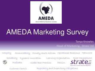 AMEDA Marketing Survey