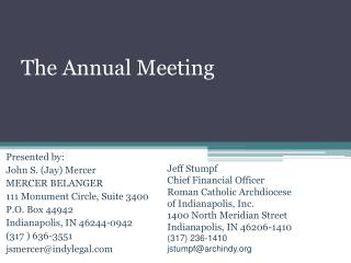 The Annual Meeting