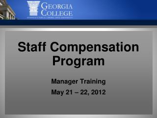 Staff Compensation Program