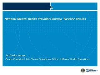 National Mental Health Providers Survey:  Baseline Results