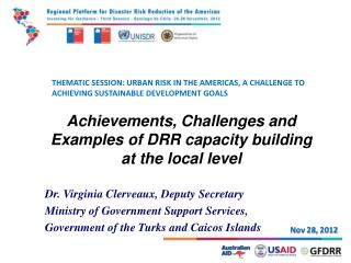 THEMATIC SESSION: URBAN RISK IN THE AMERICAS, A CHALLENGE TO ACHIEVING SUSTAINABLE DEVELOPMENT GOALS