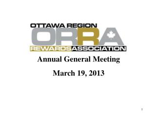 Annual General Meeting  March  19, 2013