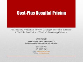 Cost-Plus Hospital Pricing
