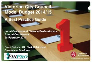 Victorian City Council Model Budget  2014/15 A Best Practice Guide Local Government Finance Professionals Annual Confer