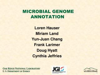 MICROBIAL GENOME ANNOTATION