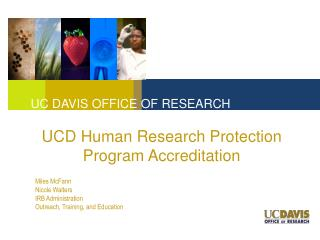 UCD Human Research Protection Program Accreditation