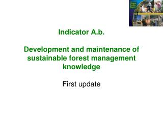 Indicator  A.b . Development and maintenance of sustainable forest management knowledge