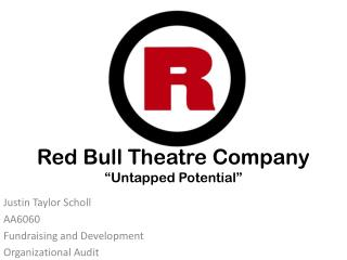 "Red Bull Theatre Company ""Untapped Potential"""