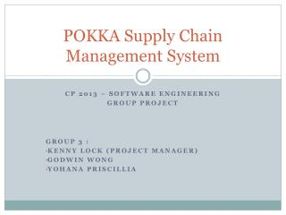 POKKA Supply Chain Management System