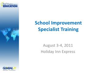 School Improvement Specialist Training