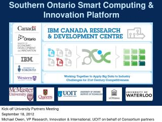 Southern Ontario Smart Computing & Innovation Platform