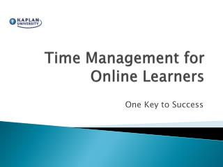 Time Management for Online Learners
