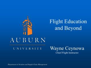 Flight Education and Beyond