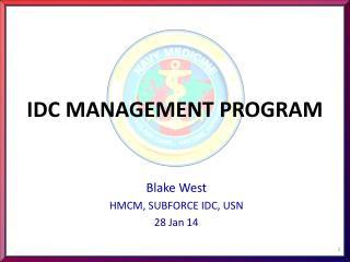 IDC  MANAGEMENT PROGRAM