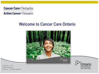 Welcome to Cancer Care Ontario