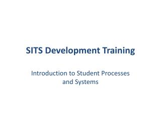SITS Development Training
