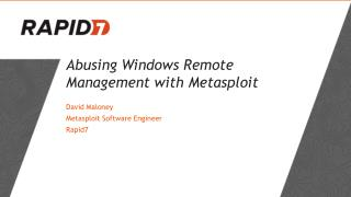 Abusing  Windows Remote  Management with  Metasploit