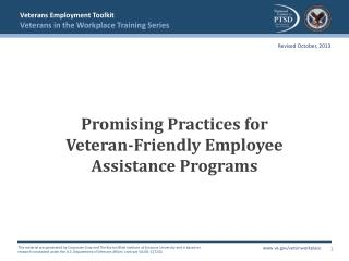 Promising Practices  for Veteran-Friendly  Employee Assistance Programs