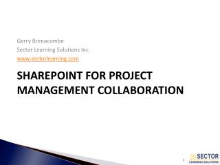 SharePoint for Project Management Collaboration