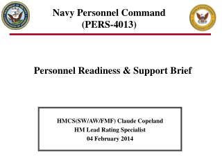 Navy Personnel Command (PERS-4013)