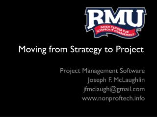 Moving from Strategy to Project