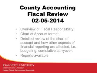 County Accounting Fiscal Review 02-05-2014