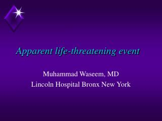 apparent life-threatening event