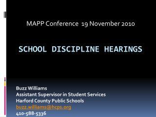 School Discipline Hearings