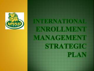 International  Enrollment Management Strategic Plan