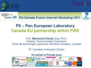 Prof.  Mohamed Cheriet,  Eng. Ph.D. Director,  Synchromedia  Consortium École  de  technologie supérieure , Montreal (Q