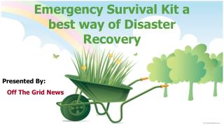 emergency survival kit a best way of disaster recovery
