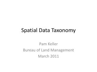 Spatial Data Taxonomy