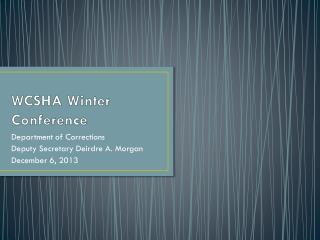 WCSHA Winter Conference