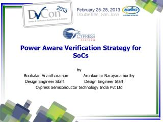 Power Aware Verification Strategy for SoCs