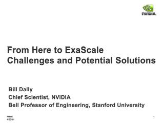 From Here to  ExaScale Challenges and Potential Solutions