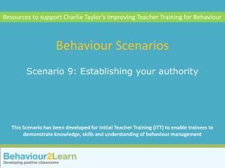 Behaviour Scenarios