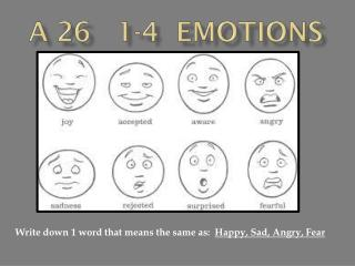 A 26   1-4  Emotions