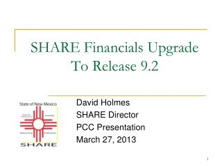 SHARE Financials Upgrade To Release 9.2