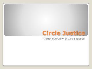 Circle Justice