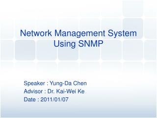 Network Management System Using SNMP