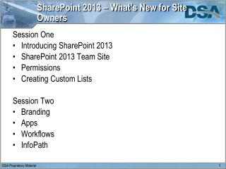 SharePoint 2013 – What's New for Site Owners