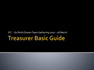 Treasurer Basic Guide