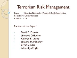 Terrorism Risk Management