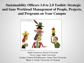Sustainability Officers 1.0 to 2.0 Toolkit: Strategic and Sane Workload Management of People, Projects, and Programs on