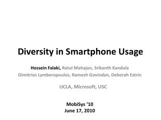 Diversity in Smartphone Usage