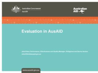 Evaluation in AusAID