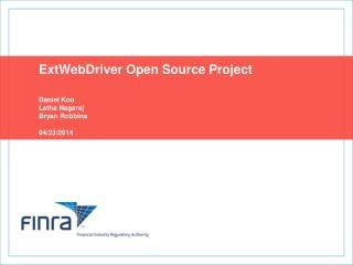 ExtWebDriver Open Source Project