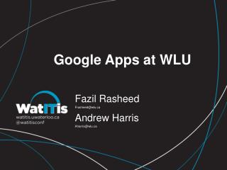 Google Apps at WLU