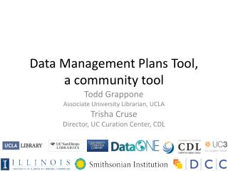 Data Management Plans Tool,  a community tool